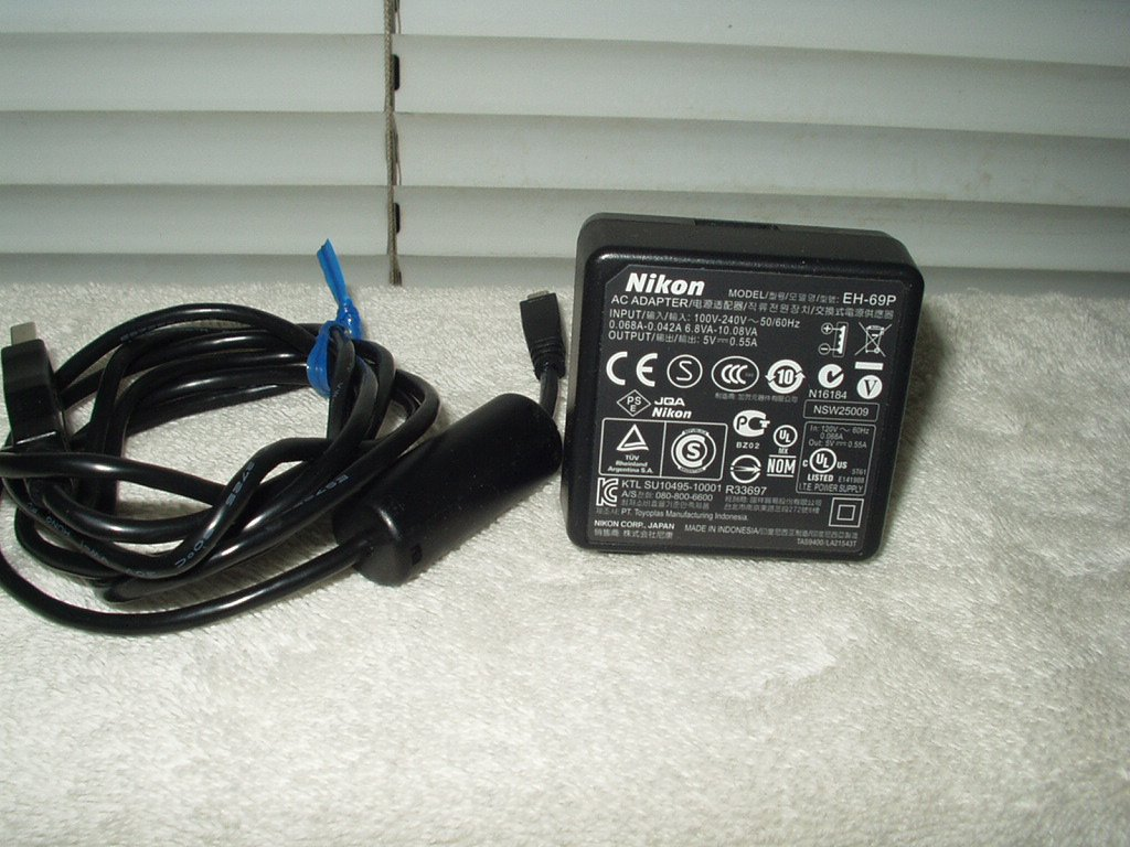 nikon coolpixs # s3100 s4100 s6100 s9100 ac adapter #eh-69p 5volts dc output with usb cable