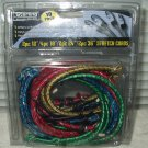 "10 pack bungee stretch cords 2-12"" 4-18"" 2-24"" 2-36"" sealed- extreme stretch"
