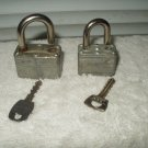 masterlock master lock padlock lot of 2 vintage #22 + another larger size