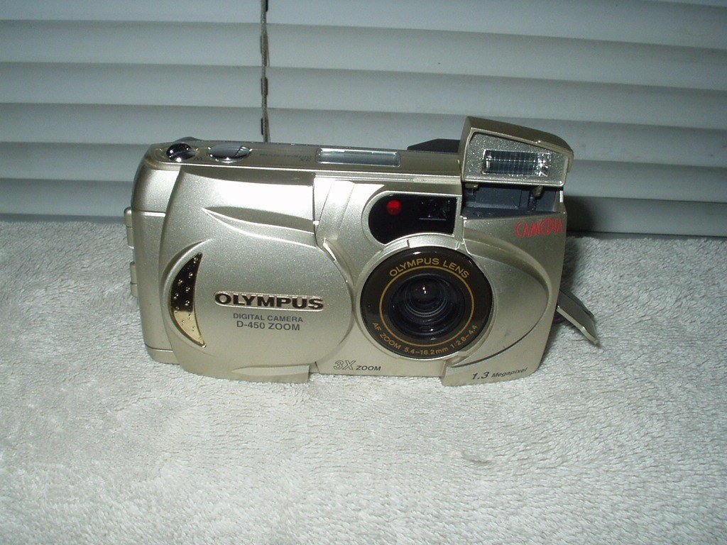 olympus d-450 zoom digital camera wide view lcd 1.3mp 3x zoom rapid shoot mode