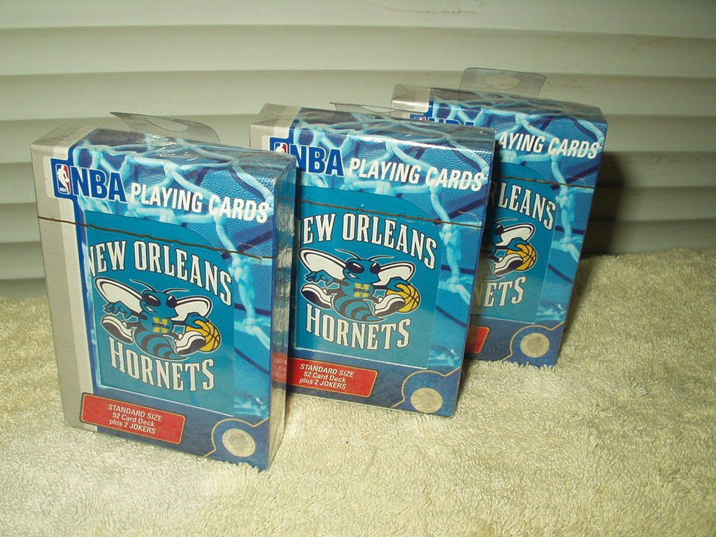 new orleans hornets basketball licensed playing cards 52 cards + 2 jokers sealed