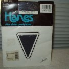 hanes ultra sheer pantyhose control top sandalfoot style 710 size d silver smoke