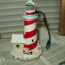 hallmark keepsake magic candy cane lookout blinking lighthouse ornament 1994