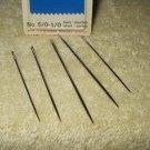 PRYM 124662 assortment lot of 5 sewing needles...no.5/0-1/0 short us shipper