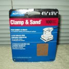 "palm sander 1/4 sheets lot of 5 ea norton # 48301 4.5"" x 5.5"" 100 grit medium"