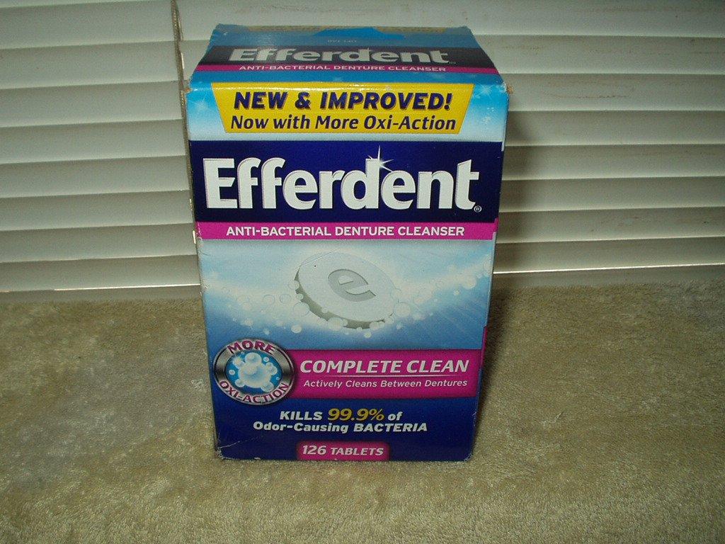 efferdent tablets denture cleanser sealed box of 126