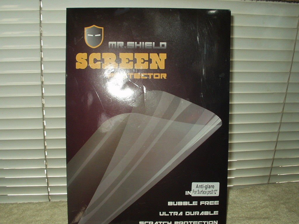 "mr. shield anti glare screen protector for surface pro3 12"" lot of 2 in the pack"