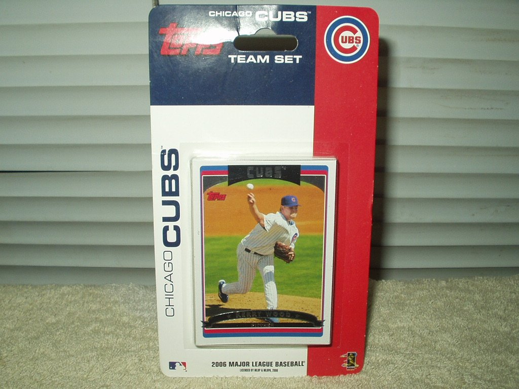 chicago cubs 2006 topps cards team set  sealed pack