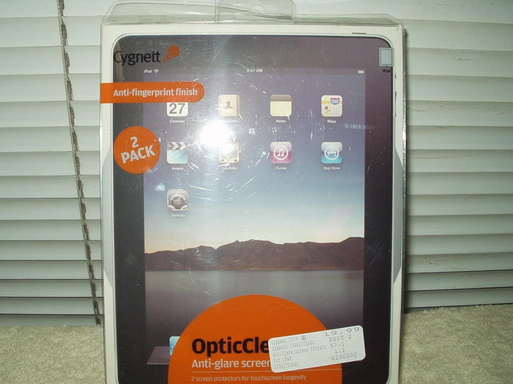 cygnett opticclear APPLE IPAD 1 anti glare screen protector 1 ea #cy0037csagl