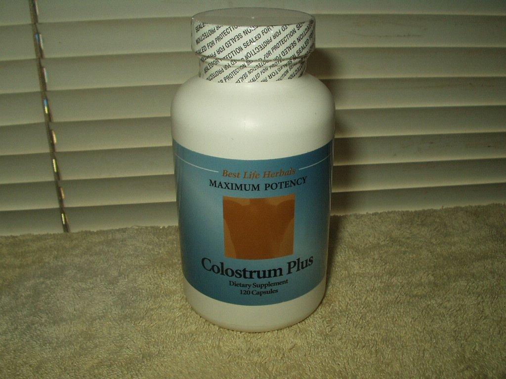 colostrum plus 120 capsules 1000mg ea maximum potency by best life herbals