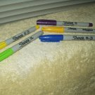Sharpie Markers blue yellow purple green 5 total used