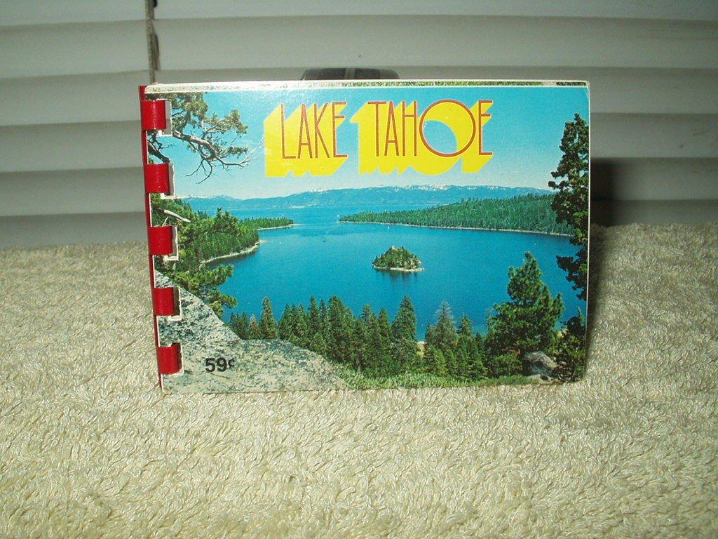 """vintage lake tahoe mini photo souvenir book approx 4"""" x 2.8"""" #a482"""