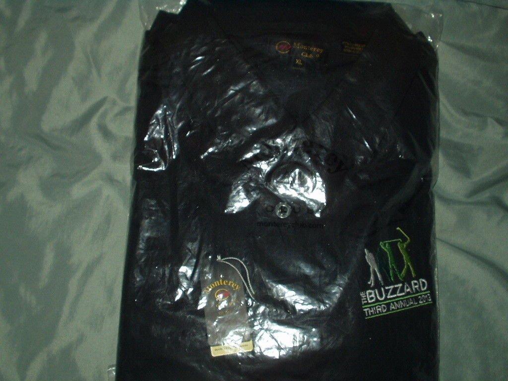 monterey club golf shirt xl black carson valley inn the buzzard tournament 2013