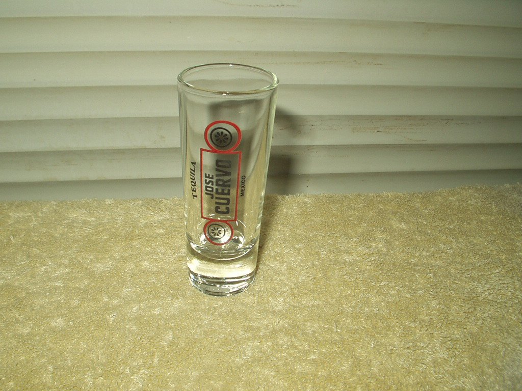 "jose cuervo tequila 3"" tall glas shot glass"