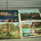 vintage london england uk lot of 4 postcards buckingham piccadilly qn elizabeth