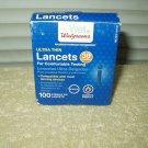 walgreens 30 ga ultra thin universal lancets 67 ea remaining exp 8/6/20 # 429486