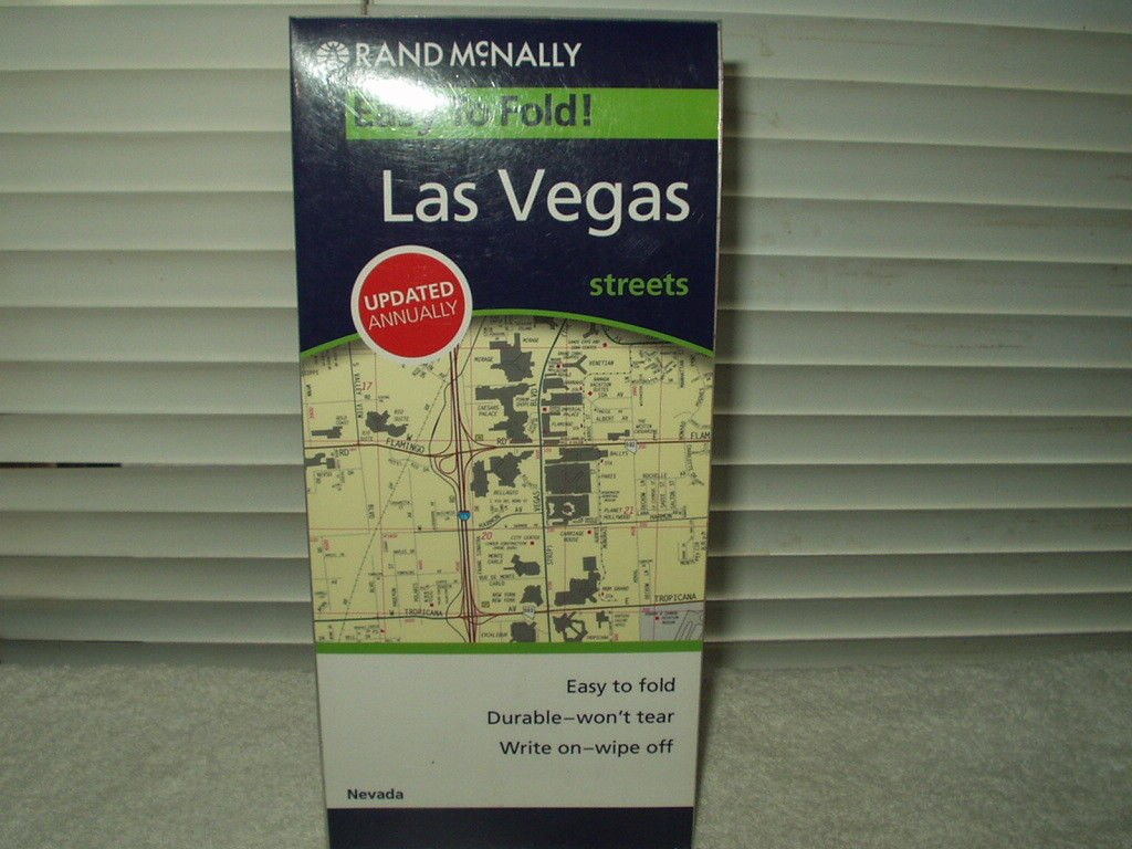 rand mcnally las vegas nevada street map laminated 2008