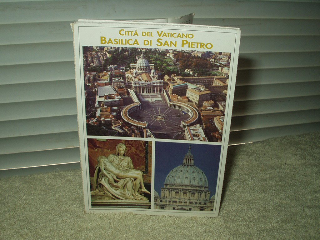vintage rome pope vatican st peters basilica italy unused post cards lot of 10