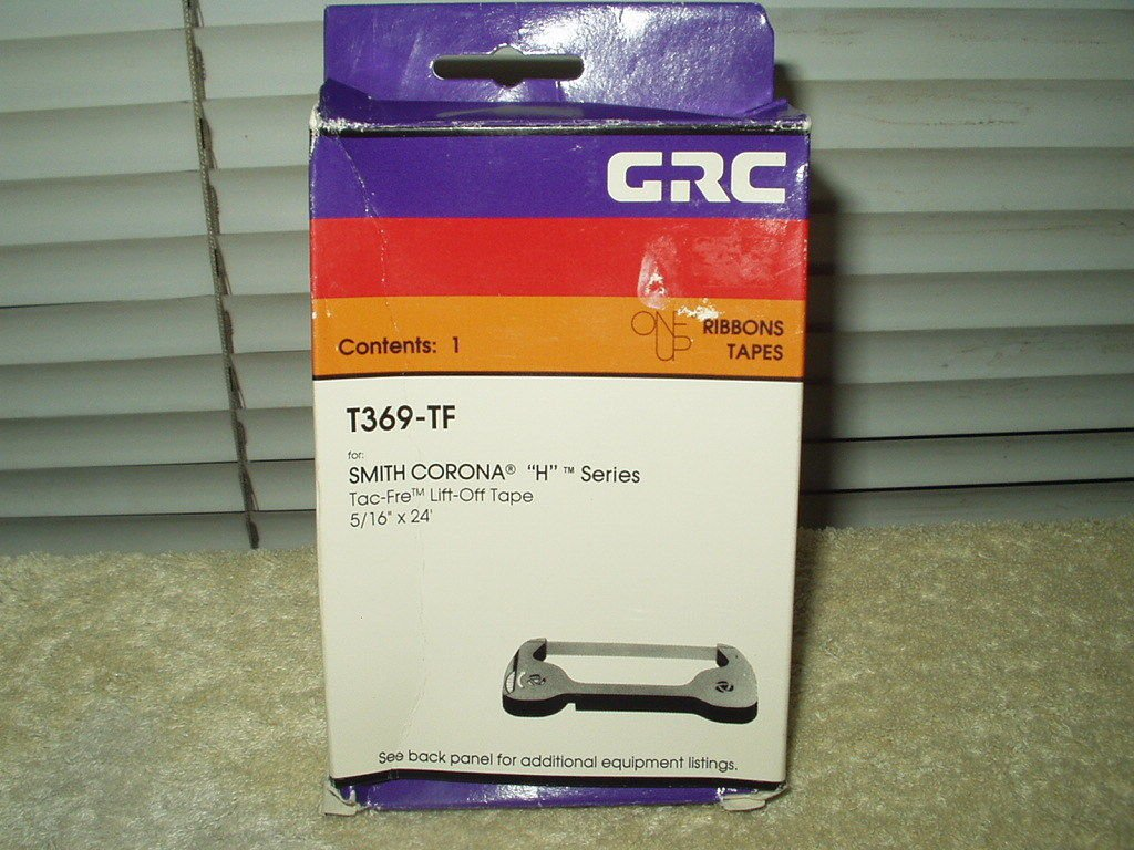 "tac-fre lift-off tape # t369-tf smith corona h series 5/15"" x 24' general ribbon"