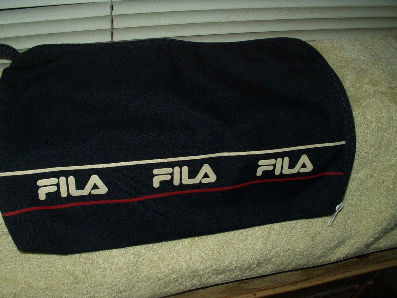 "fila travel bag w/ zipper 15.5"" x 11.25"" dark blue shoulder laptop tablet"