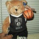"""brooklyn nets 12"""" plush teddy bear NBA licensed by good stuff w/ tags"""