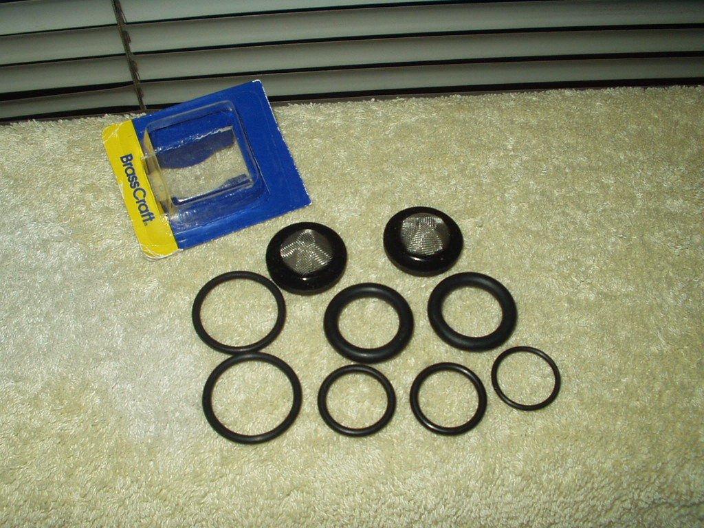 plumbing washer faucet o-rings 7 ea brasscraft ron-vik 2 ea gasket screens