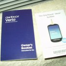 "one touch onetouch verio glucose meter / monitor ""manual"" only in english"