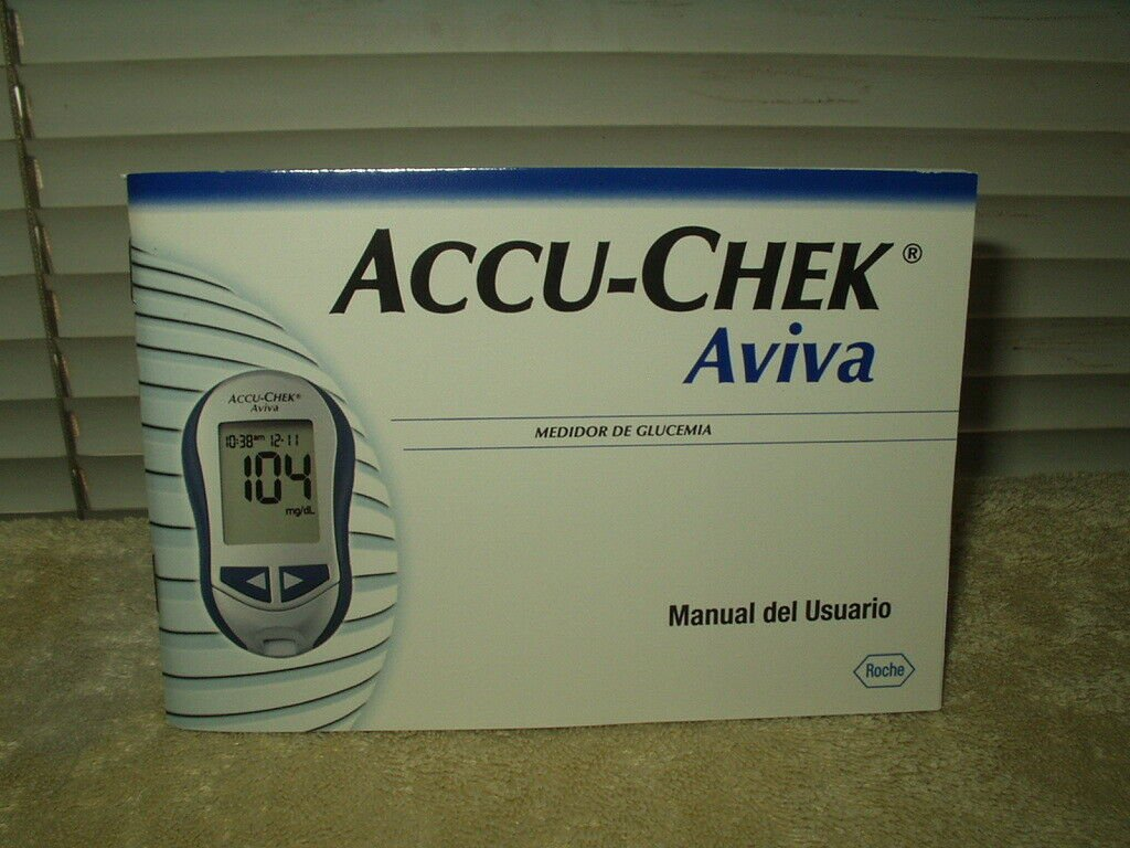accu-chek aviva original glucose meter / monitor manual only in spanish
