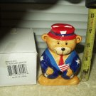 vintage patriotic toy bear bank labor day # hs-30151