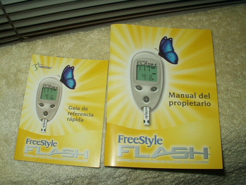 """freestyle flash glucose meter / monitor users """"manual"""" only in spanish"""