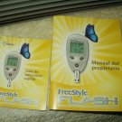 "freestyle flash glucose meter / monitor users ""manual"" only in spanish"