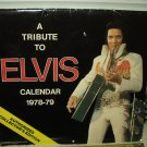 "elvis presley 1978-1979 authorized collectors calendar 13"" w x 12"" t"