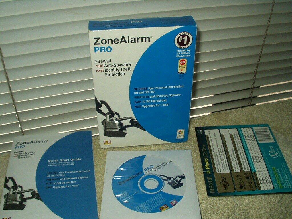 zone alarm pro firewall + anti-spyware + ant-identity theft software xp vista