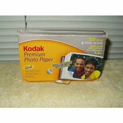 "premium inkjet photo paper 4"" x 6"" high gloss kodak 89 pieces unsealed hp epson canon +"