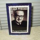 thurgood marshall 2003 black heritage post card unused # 23146090