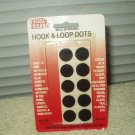"magic mounts # 3755 hook & loop dots 5 sets 5/8"" round black"
