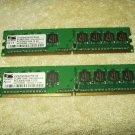 1gb desktop ram memory proMOS 2@512mb ea ddr2-800mhz-cl6 v916764k24qcfw-g6