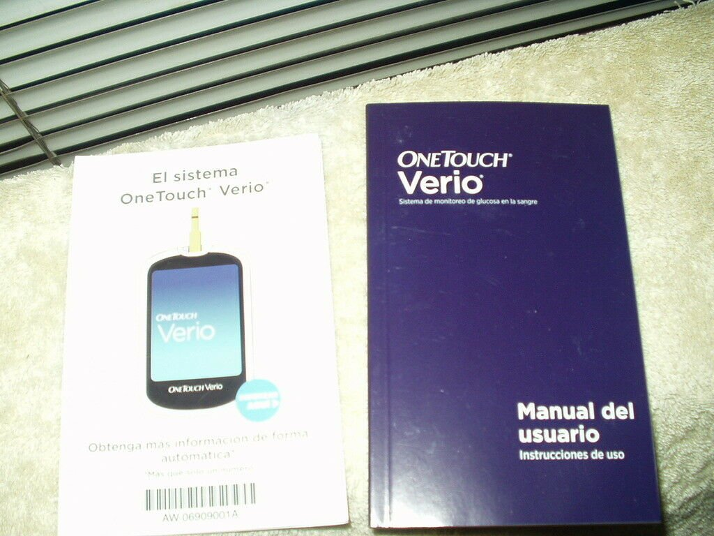 """one touch onetouch verio glucose meter / monitor """"manual"""" only in spanish"""