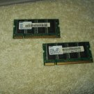samsung oem laptop random access memory  256mb ddr pc2100 cl2.5 2ea