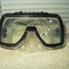 "dolfino scuba diving snorkel mask goggles tempered glass 6.75"" wide"