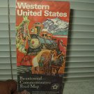 amoco western united states bicentennial commemorative road map 1976