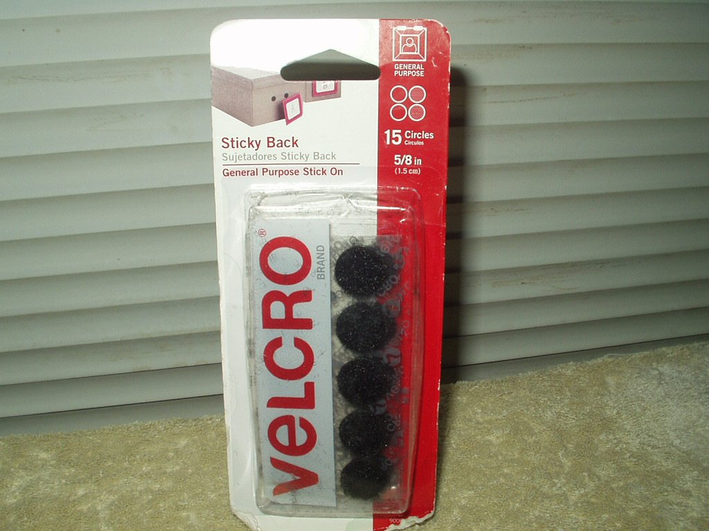 """velcro sticky back fasteners 5/8"""" circles set of 15 each"""