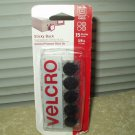 "velcro sticky back fasteners 5/8"" circles set of 15 each"