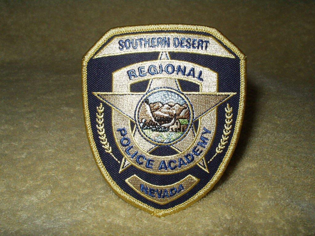 "Southern Desert Regional Police Academy Nevada shoulder patch 4"" x 3.25"""