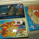 vintage california golden state symbols & san francisco postcards lot of 3 unposted
