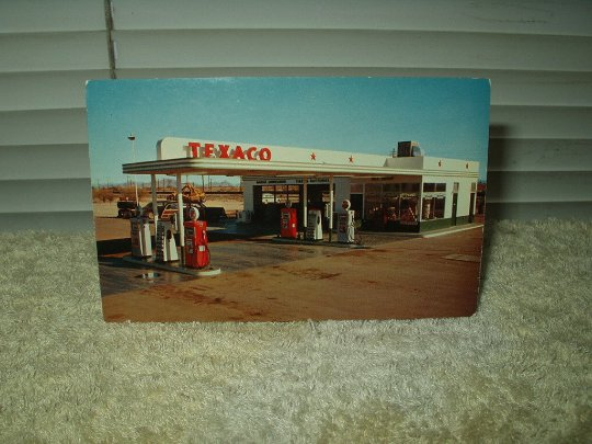 vintage bill's texaco gila bend arizona highway 80 unused postcard