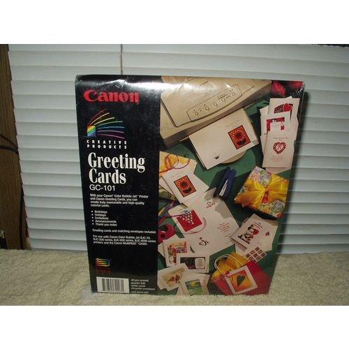 cannon bjc gc-101 greeting cards &envelope kit