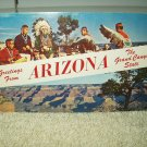 vintage greetings from arizona the grand canyon state postcard unused 1966