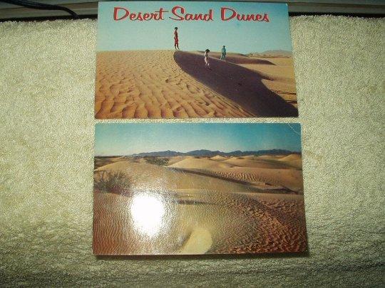 rare vintage southwetern US desert sand dunes unused postcards petley sonic art lot of 2