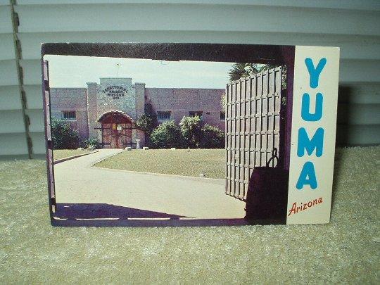 territorial prison yuma arizona vintage post card 1960's unused